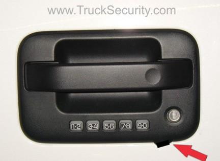 Truck Security Ford F 150 Door Handle Plate